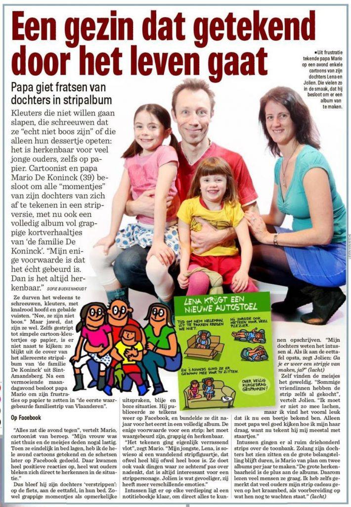 Artikel Het Nieuwsblad 22-1-2016 OKE